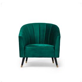 Wilson Lounge Chair Green Velvet