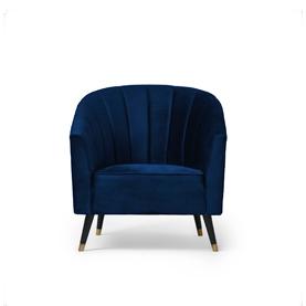 Wilson Lounge Chair Blue Velvet